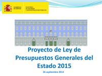 Aprobado el Proyecto de Presupuestos Generales del Estado para 2015 que afianzan la recuperación de la economía y la creación de empleo