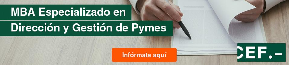 MBA Especializado en Dirección y Gestión de Pymes