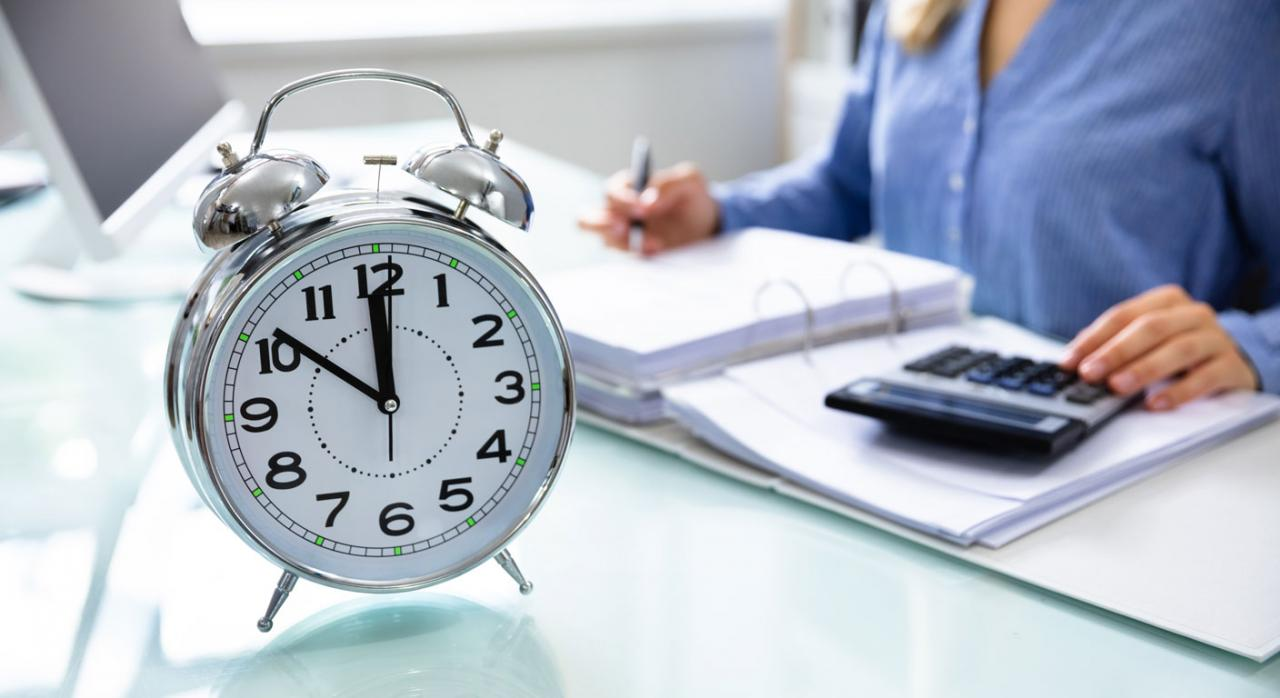 Registro del tiempo de trabajo