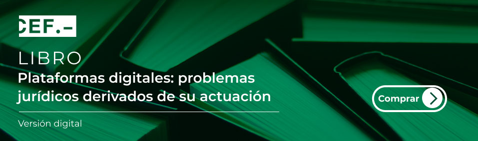 Libro: Plataformas digitales: problemas jurídicos derivados de su actuación