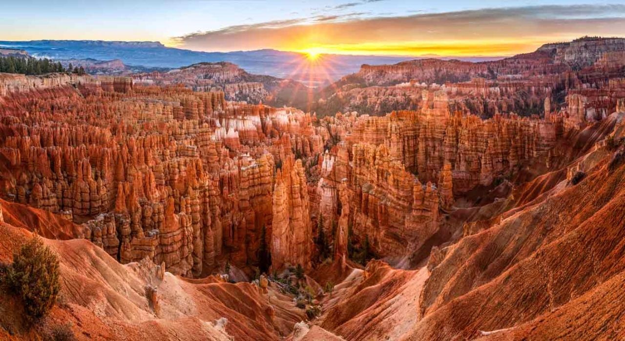 Vacaciones. Vista panorámica del Parque Nacional de Bryce Canyon