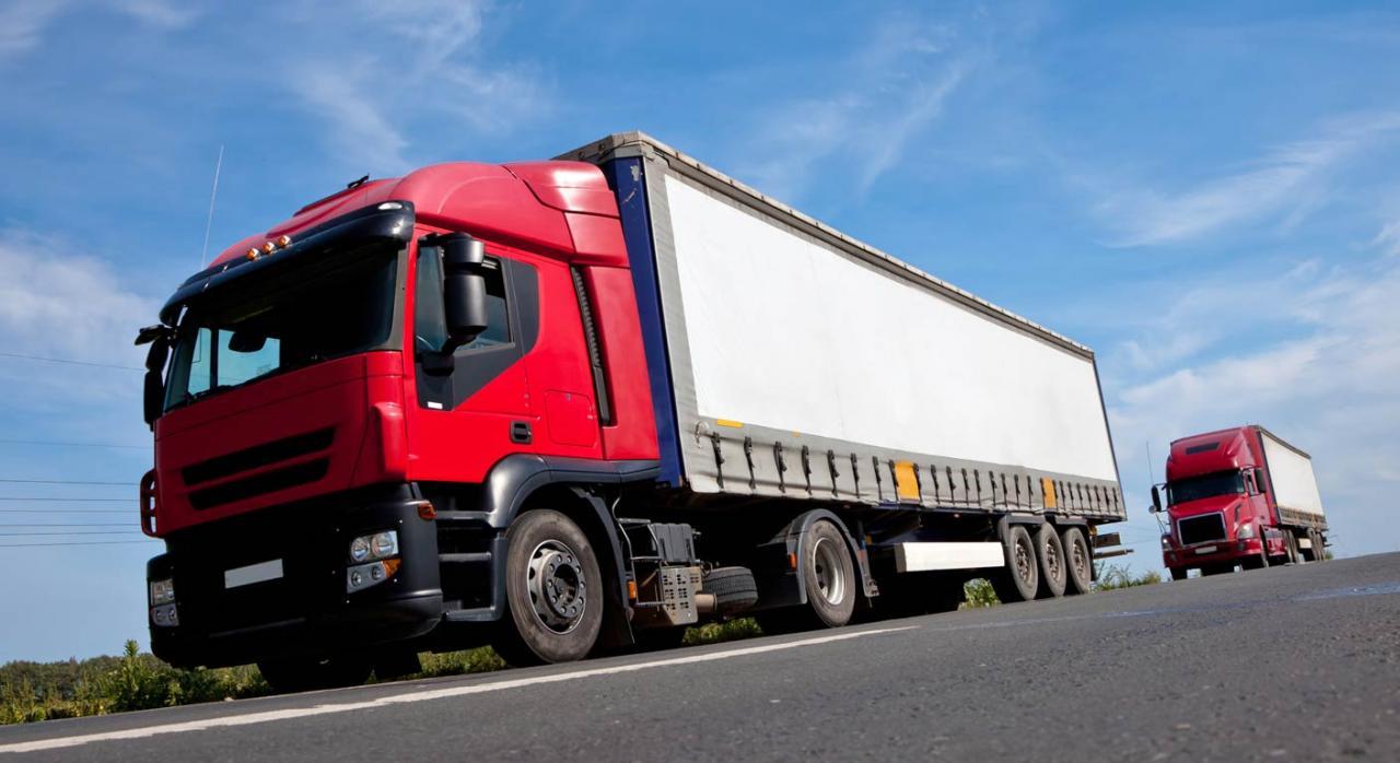 Camiones circulando