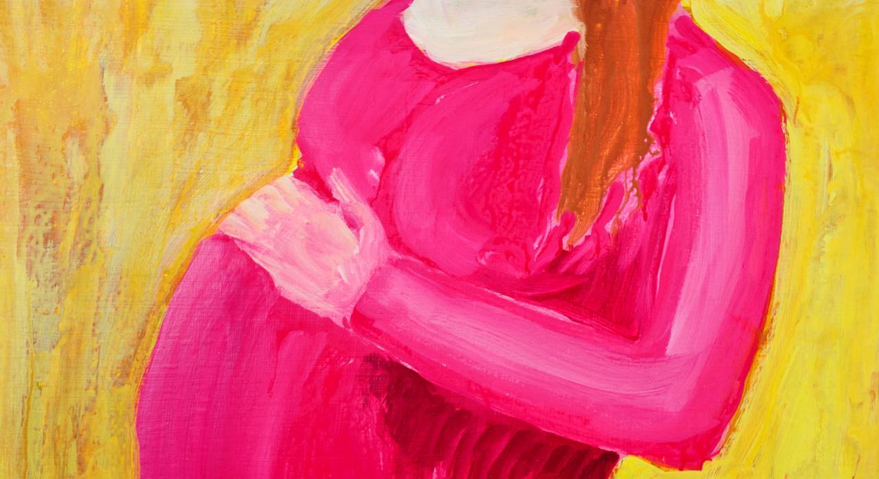 Complemento maternidad. Imagen de una pintura de una mujer embarazada
