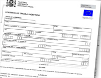 Modelo de contrato de trabajo indefinido actualizado for Modelo contrato empleada de hogar indefinido