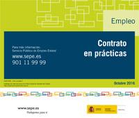 Folleto informativo sobre Contrato en prácticas