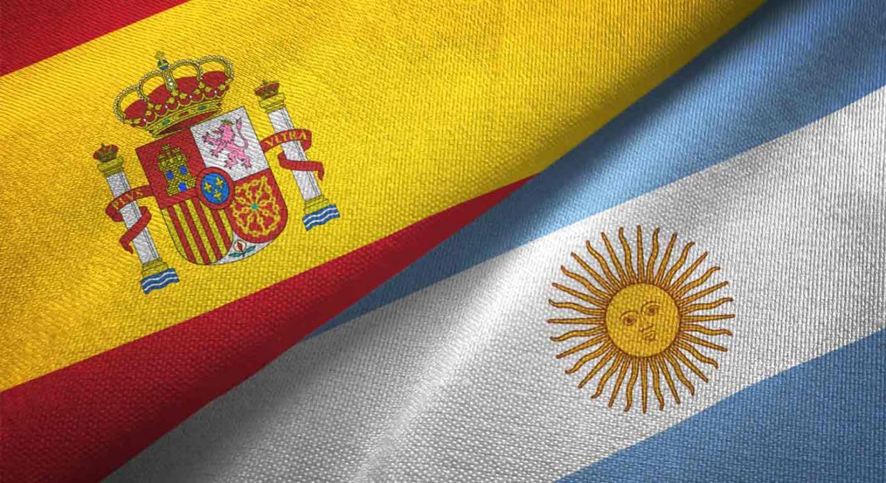 Convenio Hispano-Argentino. Banderas de España y Argentina