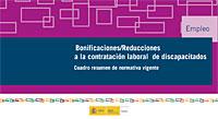 Cuadro de bonificaciones/reducciones a la contratación laboral de discapacitados