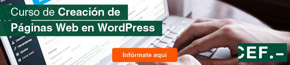 Curso  de Creación de Páginas Web en WordPress