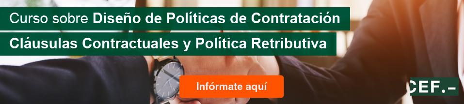 Curso sobre Diseño de Políticas de Contratación, Cláusulas Contractuales y Política Retributiva