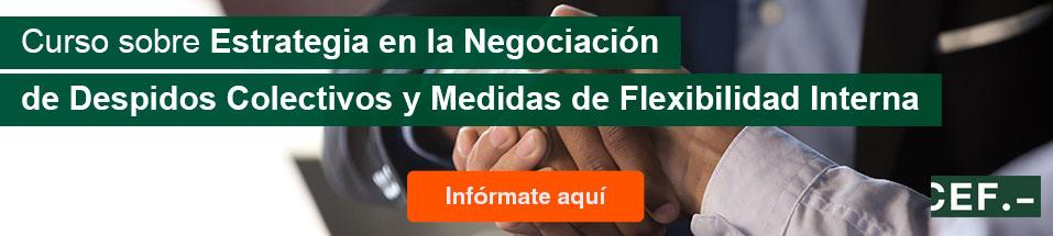 Curso sobre Estrategia en la Negociación de Despidos Colectivos y Medidas de Flexibilidad Interna