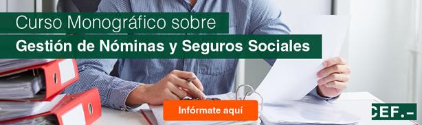 Curso monográfico sobre Gestión de Nominas y Seguros Sociales