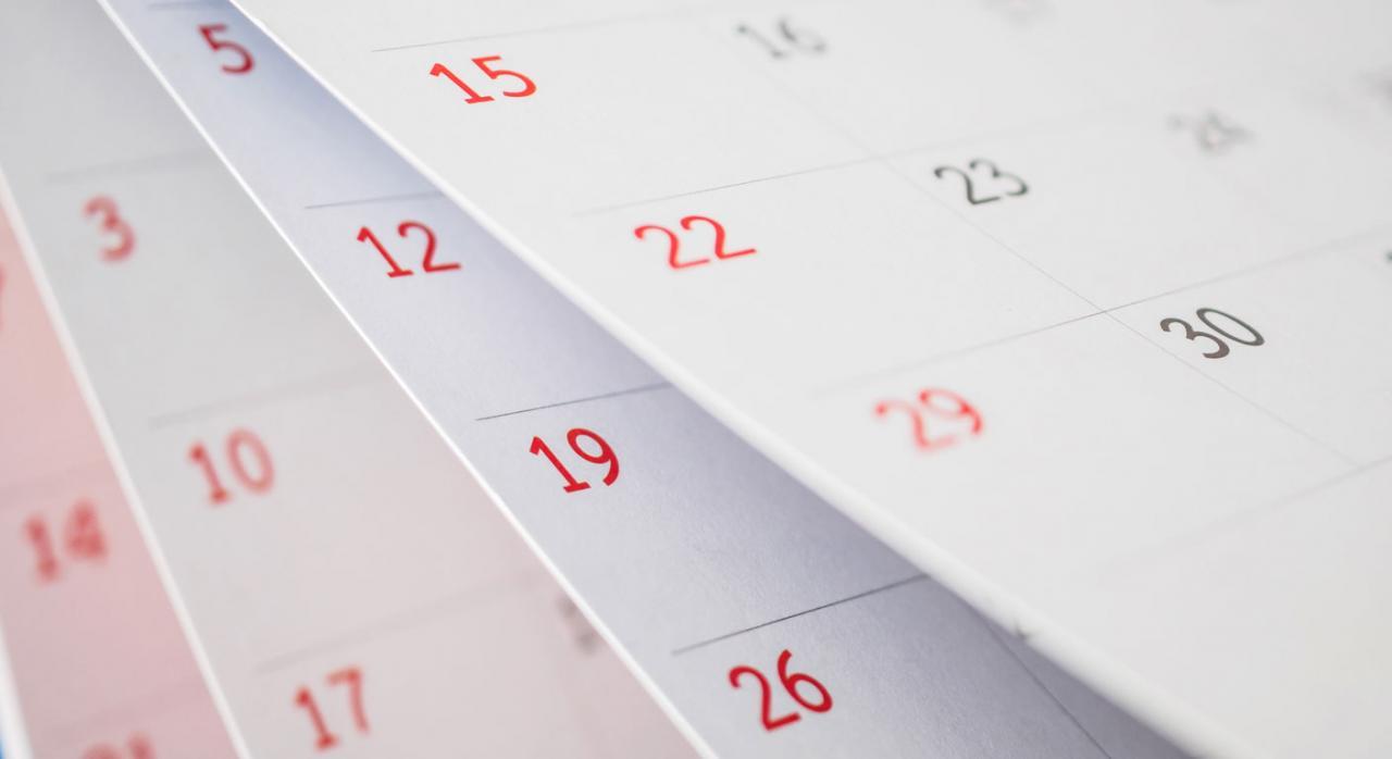 No pueden incluirse periodos de 90 días en los que no se ha producido despido alguno. Imagen de un calendario