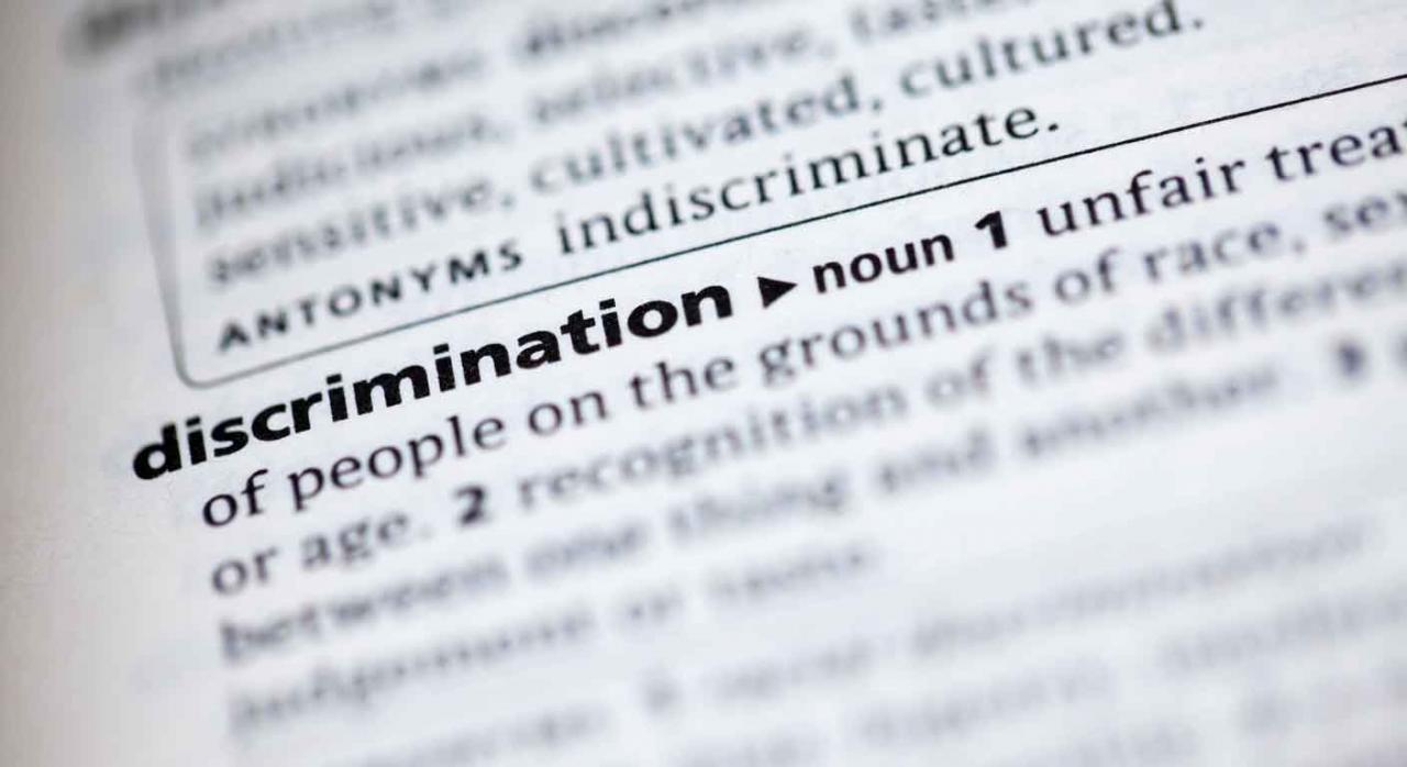 Imagen de la descripción de discriminación en un diccionario