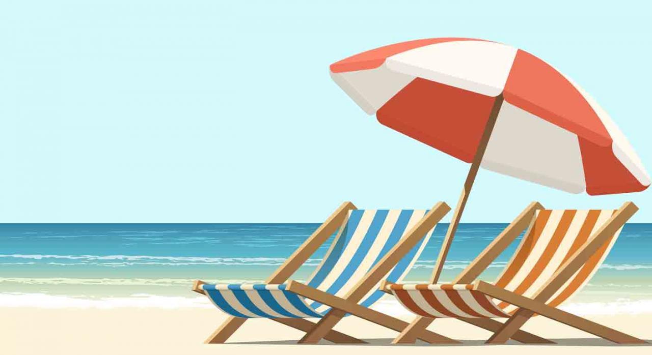 Despido improcedente; vacaciones anuales; readmisión. Dos hamacas y una sombrilla en la playa