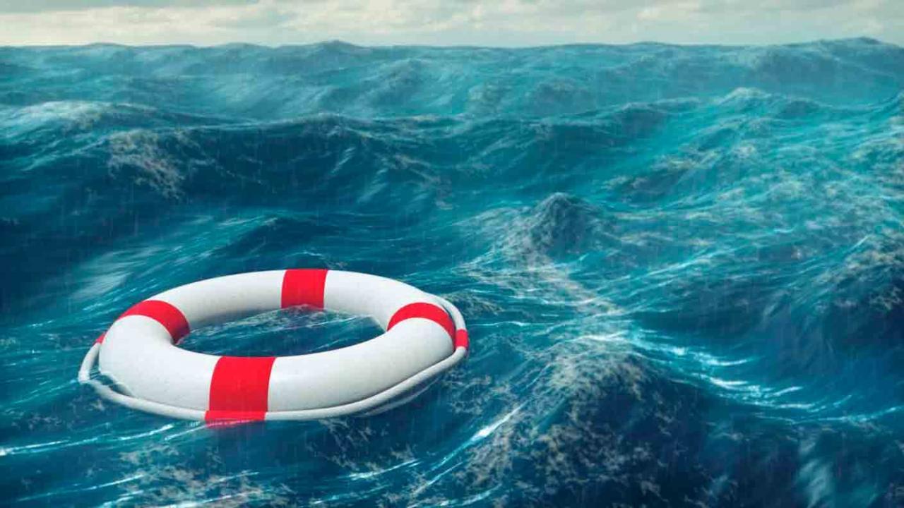 Ingreso Mínimo Vital. Flotador en medio del mar