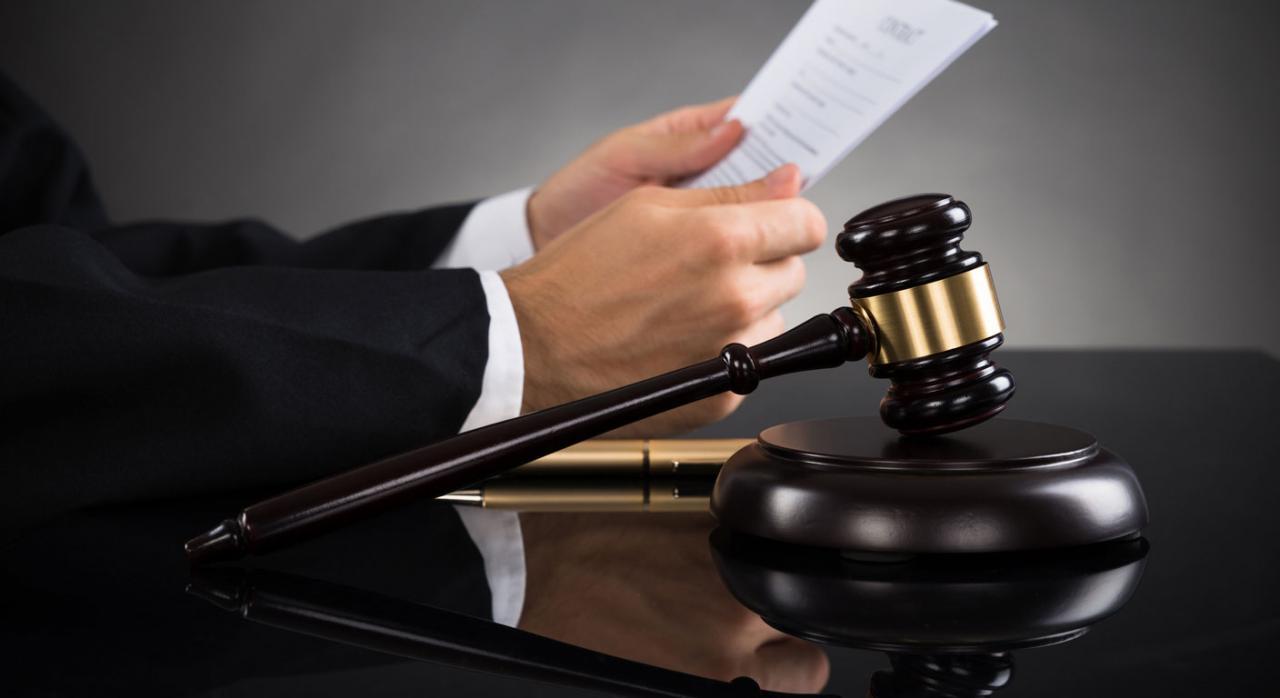 Jurisprudencia. Imagen de una maza de juez