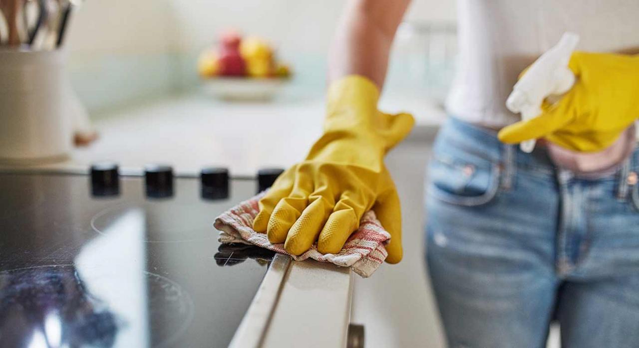 Es contrario al Derecho de la Unión. Imagen de una persona limpiando la cocina
