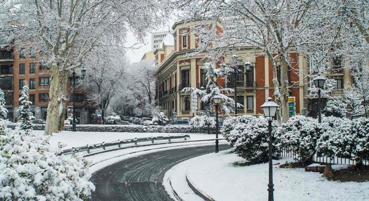 Jurisprudencia. Imagen de una zona de Madrid nevada