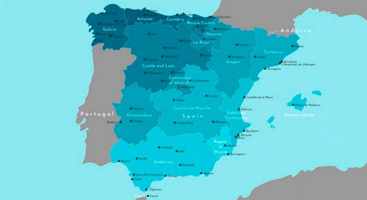 Normativa autonómica general y convocatorias de ayudas. Mapa de España