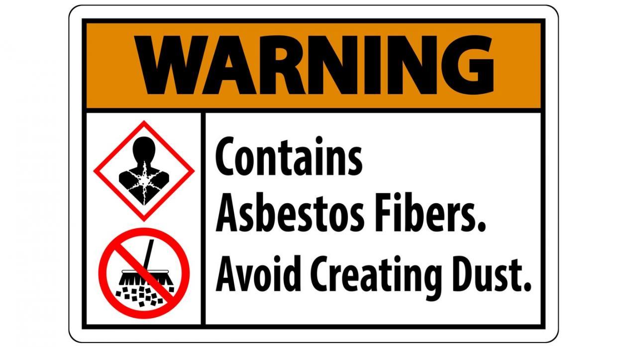 Muerte por enfermedad profesional. Imagen de cartel con aviso Warning