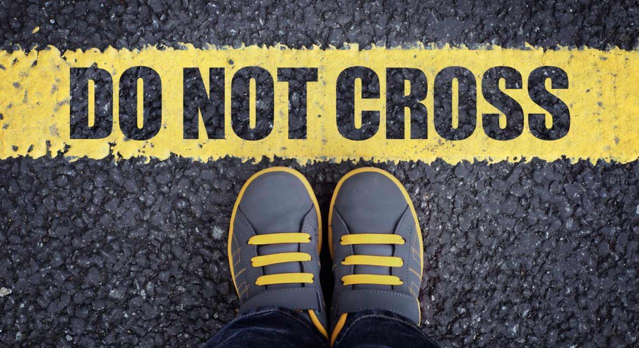 No cruzar