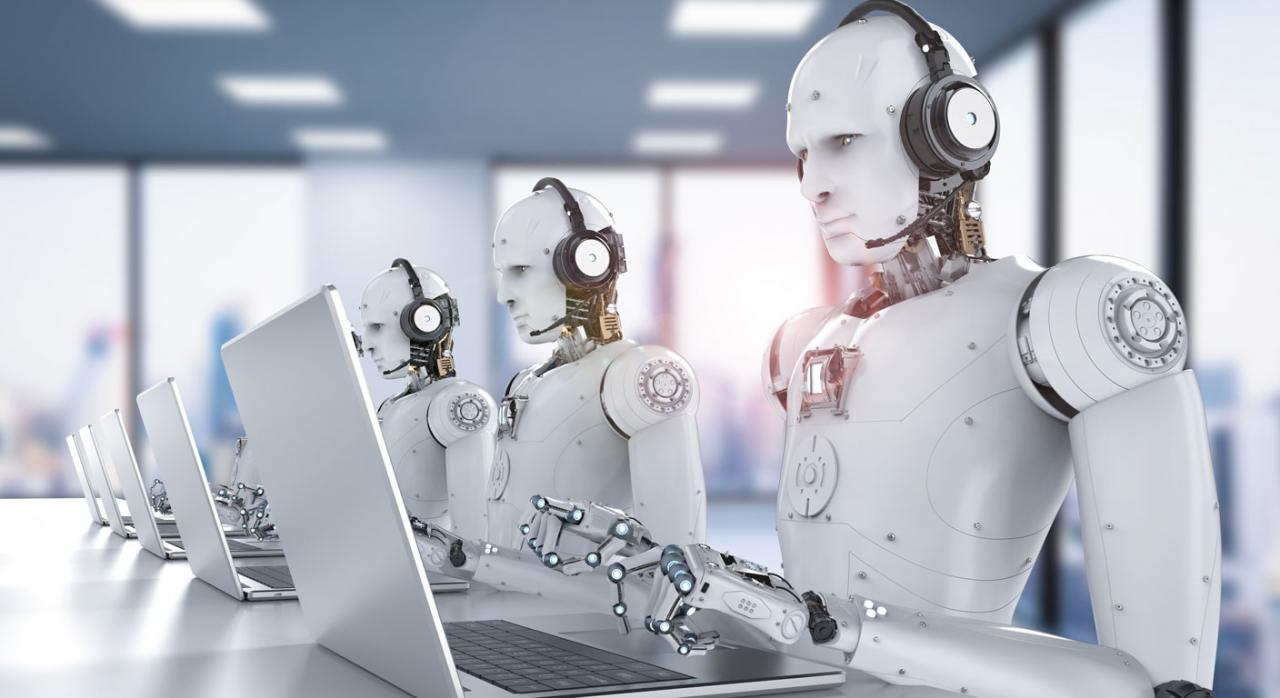 Imagen de unos robots