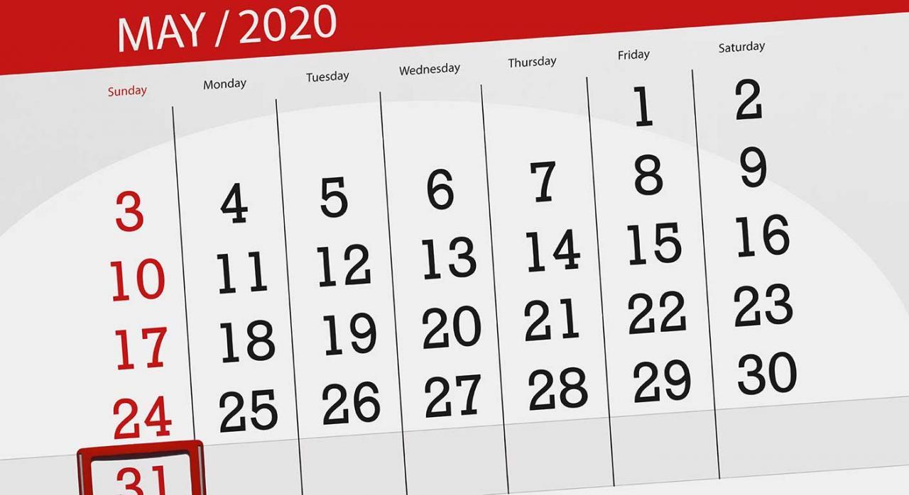 Trabajadores autónomos. Imagen de un calendario